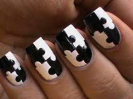 puzzle nail art designs matte nail polish designs black and