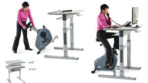 Diy Bike Desk Exercise Bike Desk Bike Electric Adjustable Height Desk With