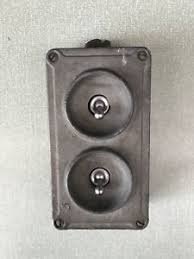 vintage industrial light switch vintage industrial crabtree 2 gang light switch bank trunking