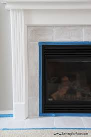 how to paint tile easy fireplace paint makeover setting for four