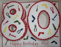 80th birthday cake ideas