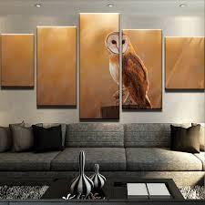 art home decor framed 5 piece owl canvas paintings wall art home decor