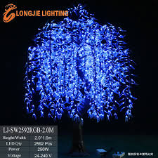 2592 simulation white willow branches outdoor led tree light buy