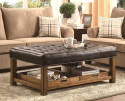Leather Coffee Table Storage Beautiful Leather Coffee Table Ottoman Awesome Square Large
