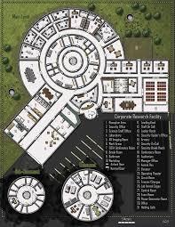 corporate research facility shadowrun floorplan maps