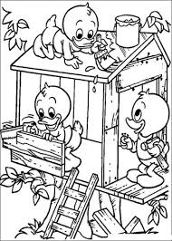 building tree house coloring free printable coloring pages