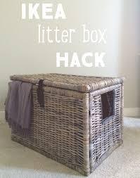 Ikea Wicker Baskets by Super Easy Ikea Hack Turn Wicker Chest Into A Secret Litter Box