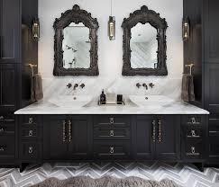 Baroque Bathroom Accessories Black Bathroom Vanity With Gold Mirror Contemporary Bathroom