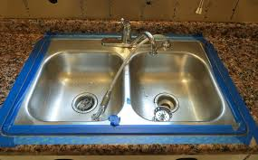 How To Caulk A Kitchen Sink Sink After Giani Granite Paint The Diy