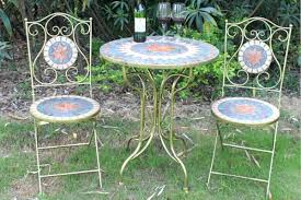 Tesco Bistro Table Mosaic Bistro Sets Uk Mosaic Tile Top Bistro Table And Chairs Set