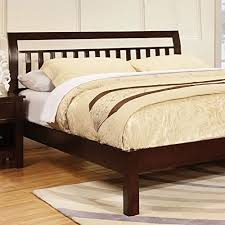 Walnut Bed Frames Corry Classic Transitional Style Walnut Finish Size Bed