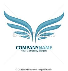 company name and wings logotype vector illustration freedom