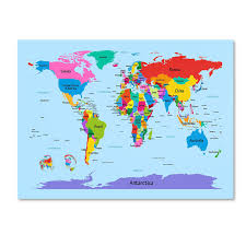 Blank Printable World Map With Countries by Amazon Com Trademark Fine Art Childrens World Map By Michael