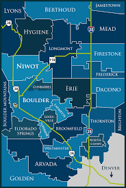 Broomfield Colorado Map by Colorado Landmark Communities Information