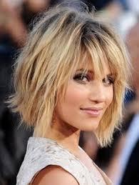 idã e coupe de cheveux coiffure carré plongeant avec frange idée coupe de cheveux le