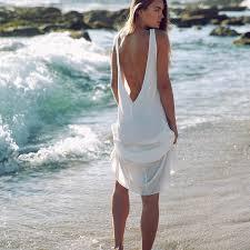 wholesale fashion chiffon summer dresses women white beach