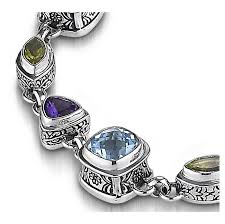 silver bracelet with stones images Multi stone bracelet sterling silver the best of 2018 jpg