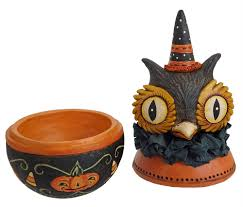 Mini Halloween Ornaments by Johanna Parker Folk Art Collectibles