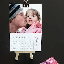 Small Desk Calendar 2015 Free Printable 2016 Mini Diy Photo Calendar Great Gift Idea
