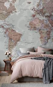 bedroom and more classic world map wallpaper wall mural muralswallpaper co uk