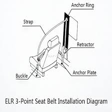 universal 3 point retractable car seat belt bolt extension safety