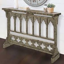 Narrow Console Table Cathedral Arched Narrow Console Table European Vintage