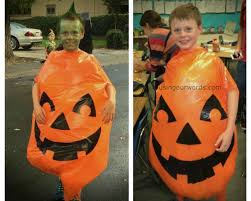 Pumpkin Costume Diy Pumpkin Costume For A Big Kid Using Our Words