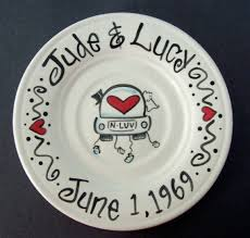 personalized ceramic wedding plates 56 best anniversary and wedding platters images on