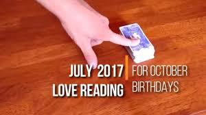 Laminate Flooring Reading October Birthdays July 2017 Love Tarot Card Reading Youtube