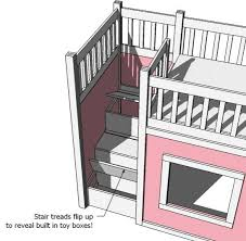 ana white u0027s loft bed storage steps combine with her hack of the