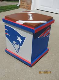 new england patriots inspired storage box end table sport