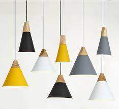 Yellow Ceiling Lights Wood Series Modern Pendant Lights Distinct Interior
