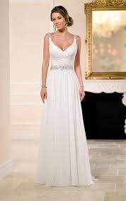 flowy wedding dresses flowy grecian bridal gown with sparkly belt stella york