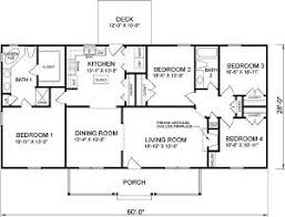 4 bedroom ranch style house plans simple house plans 4 bedrooms homes floor plans
