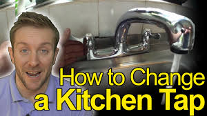 how to change a kitchen tap plumbing tips youtube