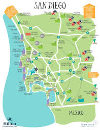 San Diego Downtown Map by Area Maps U2013 2017 Seaoc Convention