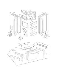 Overhead Door Parts List by Kenmore Elite Refrigerator Parts Model 79571033010 Sears