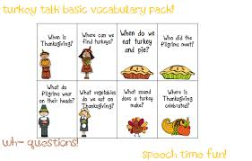 turkey talk vocabulary packs for younger and elementary