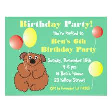 cute teddy bear birthday party invitations u0026 announcements zazzle