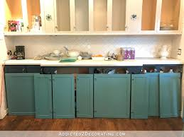 Teal Kitchen Cabinet Sneak Peek Plus A Few Cabinet Painting Tips - Painted kitchen cabinet doors