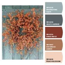 beautiful burnt orange color palette used in a labor day weekend