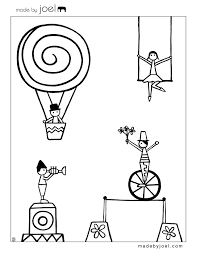 made by joel new circus coloring sheets