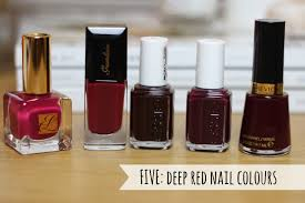 five deep red nail colours a beauty junkie in london