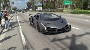 Lamborghini Veneno Black - lamborghini veneno driving revving bullfest 2017 at lambo home