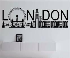 Mural Art Designs by Aliexpress Com Buy London Skyline Pop Large Vinyl Wall Decal
