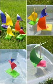 sponge sailboat craft for kids easy peasy and fun