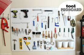 pegboard garage tool storage metal for u2013 venidami us