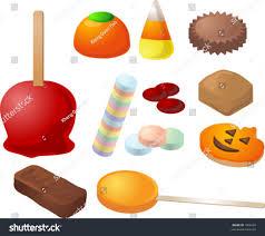 halloween candy caramal apple pumpkin jelly stock vector 1858482