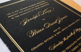 black and gold wedding invitations modern wedding invitations creative design ideas
