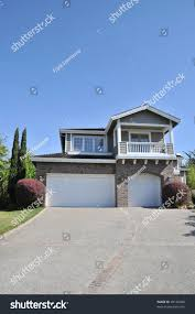 house long driveway leading two door stock photo 30146968